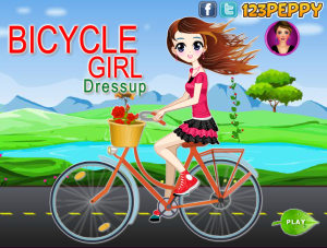 Juegosjuegos.com Bicycle Girl Dressup